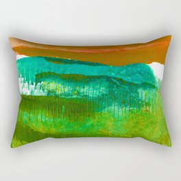 Encaustic Abstract No.27M by Kathy Morton Stanion Rectangular Pillow