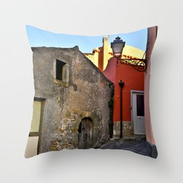 Medieval village of Sicily Throw Pillow