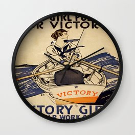 Vintage poster - Victory Girls Wall Clock