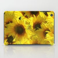 sunflowers iPad Cases featuring Sunflowers by LLL Creations
