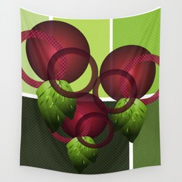 Raspberry with Basil II Wall Tapestry