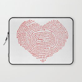 I Love You (Languages of Love Heart) Laptop Sleeve