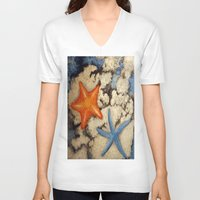 starfish V-neck T-shirts featuring Starfish by Michael Anthony Alvarez