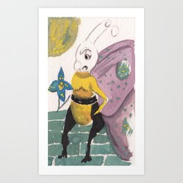 Wrong flower Art Print