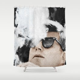 JFK Cigar and Sunglasses Cool President Photo Photo paper poster Color Shower Curtain