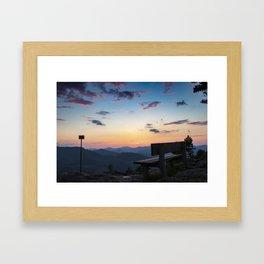 Sunset in lower Austria Framed Art Print