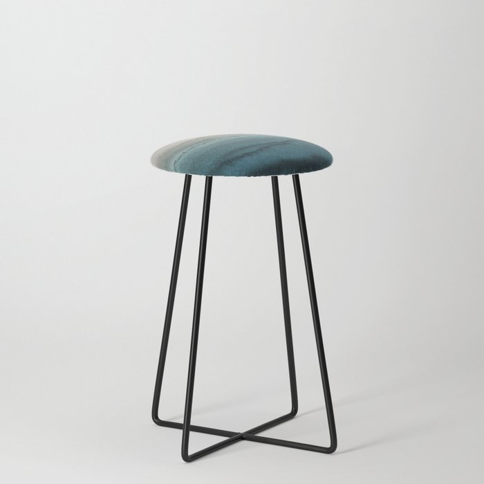 WITHIN THE TIDES - CRASHING WAVES TEAL Counter Stool