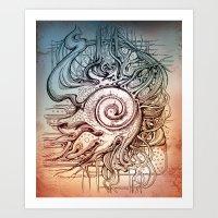 seashell Art Prints featuring Seashell by Irina Vinnik