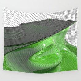 Waving green mathematical surface Wall Tapestry