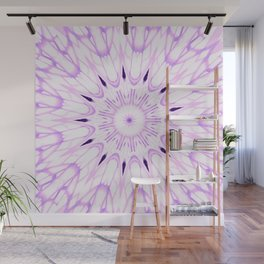 lavender Mandala Explosion Wall Mural