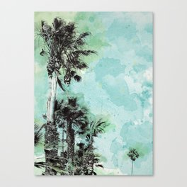 Watercolor Palm Trees Canvas Print