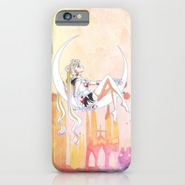 Can not Fight The Moonlight Watercolor Version iPhone Case