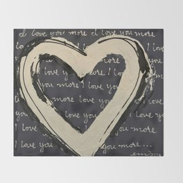 I love you more Throw Blanket