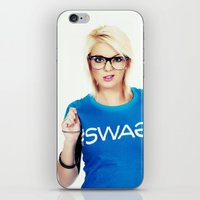 swag iPhone & iPod Skins featuring Swag by Taylor Brynne-Model