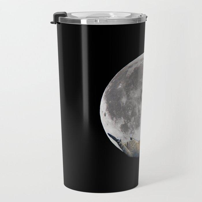 Sleeping cat with the Moon Travel Mug
