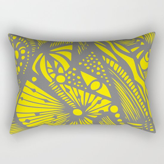INK#10 Crazy Bun Rectangular Pillow
