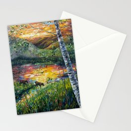 Sleeping Meadow (palette knife) Stationery Cards