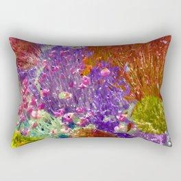 Painted Fields of Flowers Rectangular Pillow