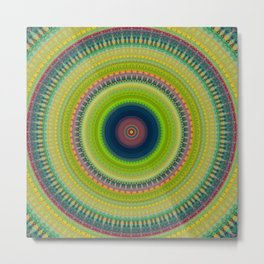 Vibrant Multi Colored Mandala Design Metal Print