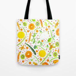 Fruits and vegetables pattern (13) Tote Bag