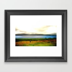 Low lying Clouds Framed Art Print
