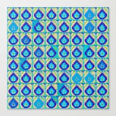 Blue Teardrop Pattern Canvas Print