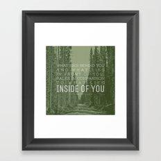 Inside of You Framed Art Print