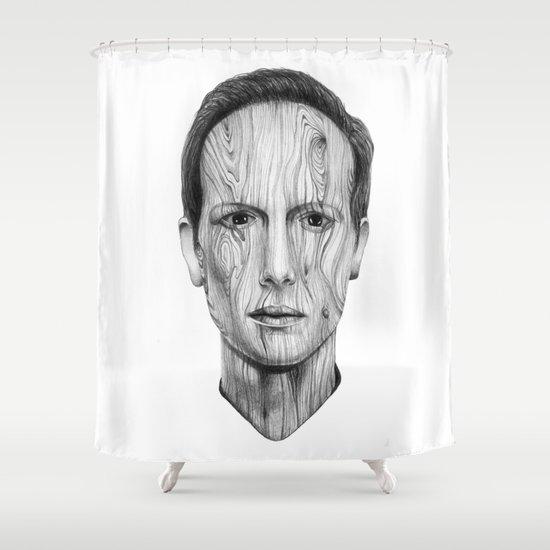 Wood Man Shower Curtain