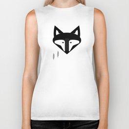 Scandinavian Fox Black And White Biker Tank