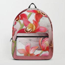 Colorful Orchids & Floral Abstract Backpack