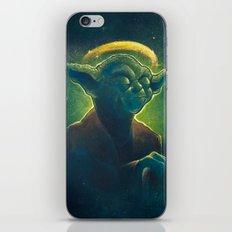 The Contemplation of Saint Yoda iPhone Skin