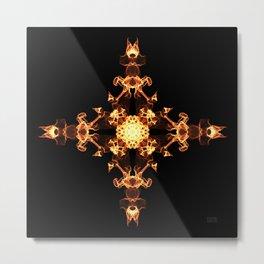 Fire Cross Metal Print