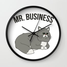 Mr. Business Cat Wall Clock