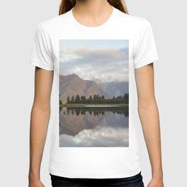 New Zealand Lake at sunset T-shirt