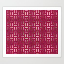 Clematis: Dots Art Print