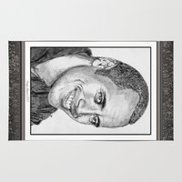 allyson johnson Area & Throw Rugs featuring Dwayne Johnson in 2007 by JMcCombie