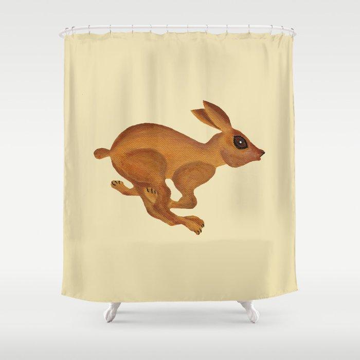 See Bunny Run Shower Curtain