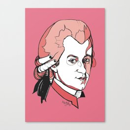 Mozart Composer Mozart Music Composer Vienna Symphony Conductor Italian German English W.A.Mozart Ar Canvas Print