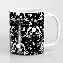 Abstract floral black and white Coffee Mug