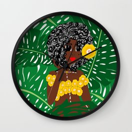 Tropical Gal Wall Clock