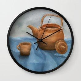 Still life of a coffee pan Wall Clock