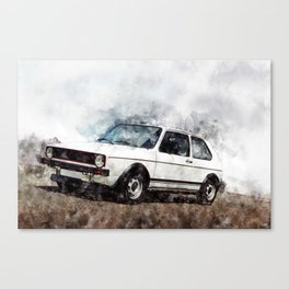 Golf I GTI White Canvas Print