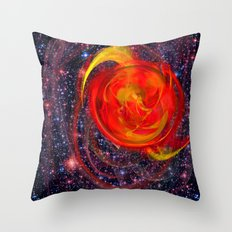 Red Star Burst Throw Pillow