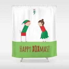 Happy XOXmas Shower Curtain