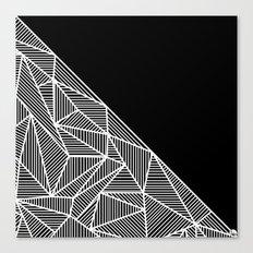 B Rays Geo BW Canvas Print