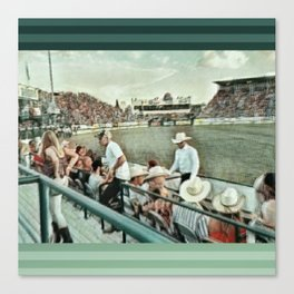 Rodeo Hitchin' Canvas Print