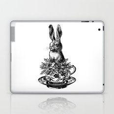 Rabbit in a Teacup | Black and White Laptop & iPad Skin