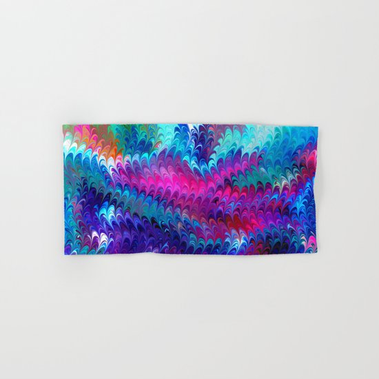 Colorful abstract waves Hand & Bath Towel