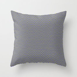 Chevrons #5 Yellow and Blue Throw Pillow