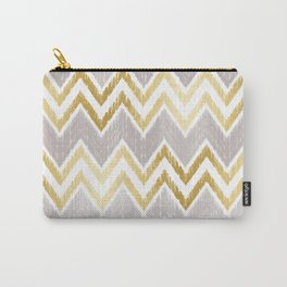 Gold Chevron Pattern 01 Carry-All Pouch
